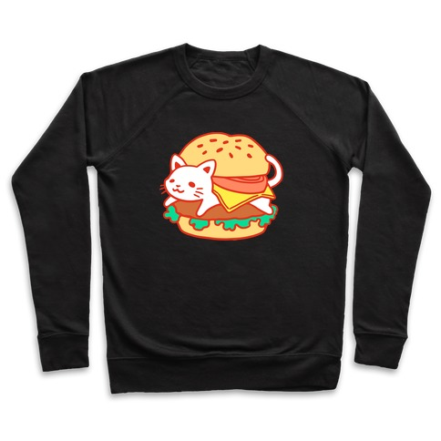 Burger Cat (No Text) Pullover