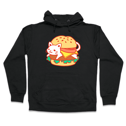 Burger Cat (No Text) Hooded Sweatshirt