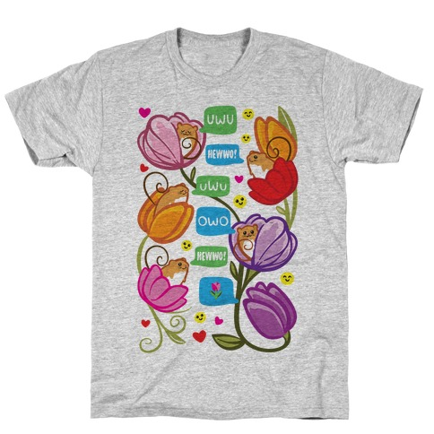 Harvest Mice Emoji Floral Pattern T-Shirt