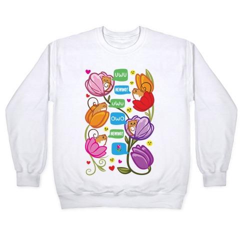 Harvest Mice Emoji Floral Pattern Pullover