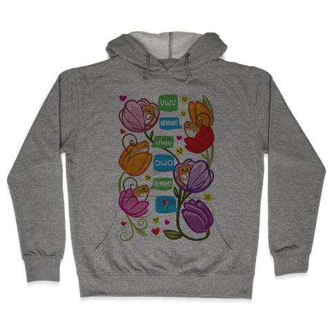 Harvest Mice Emoji Floral Pattern Hooded Sweatshirt