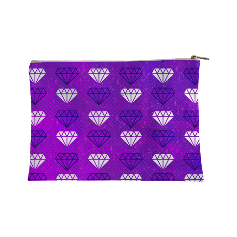 Purple Distressed Diamonds Accessory Bag