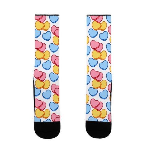 Candy Hearts Socks White Sock