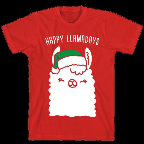 Happy Llamadays Mens T-Shirt