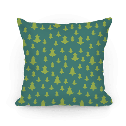 Tree Pattern (Dark) Pillow