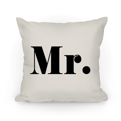 Mr. (of mr. & mrs. set) Pillow