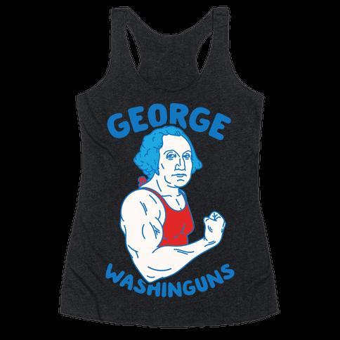 George WashinGUNS Racerback Tank Top