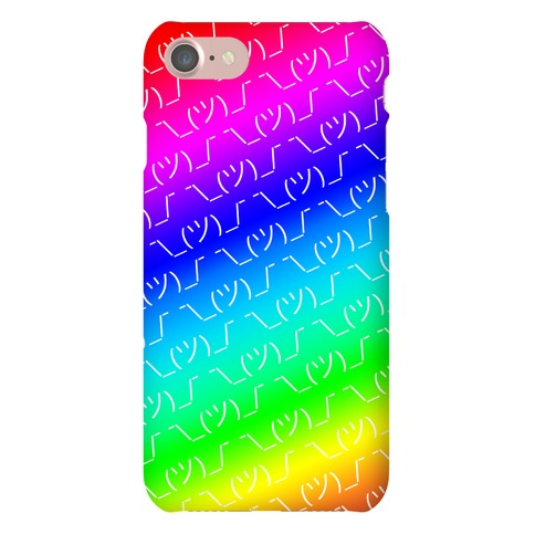 Emoticon Shrugs Rainbow Gradient Phone Case