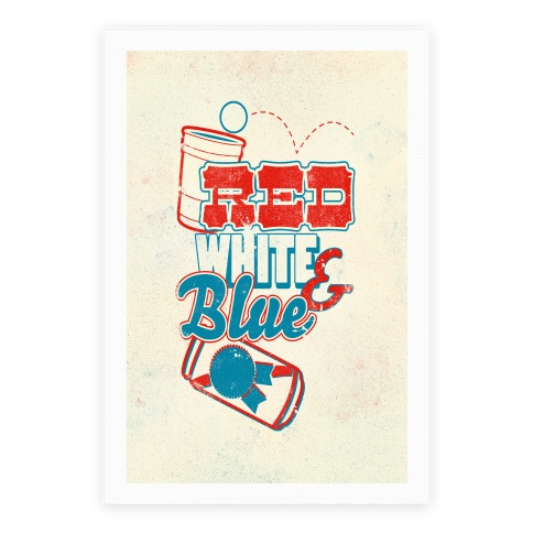 Red White and Blue Poster