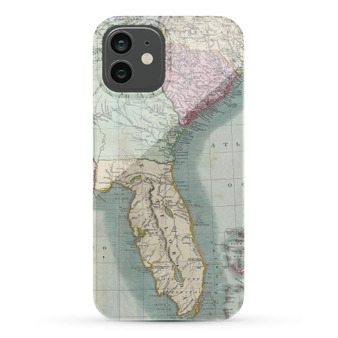 Vintage Coast Map Phone Case