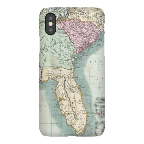 Vintage Coast Map Phone Case