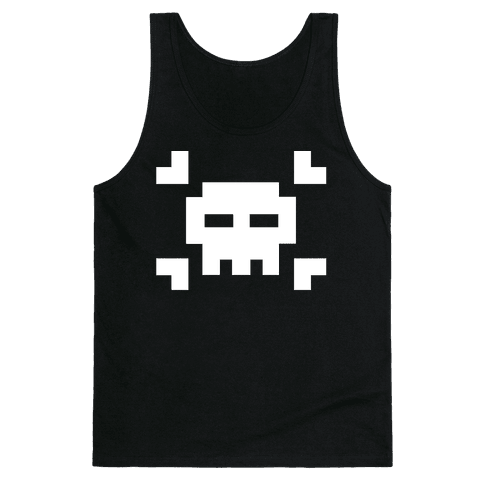 Black Skull Tank Top