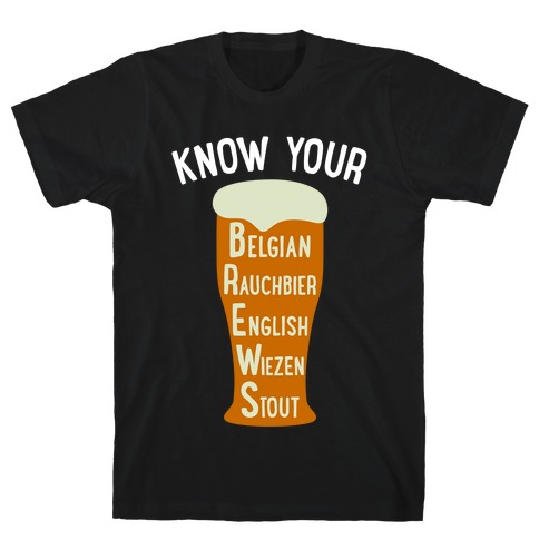 Know Your Brews Mens T-Shirt
