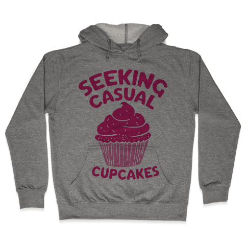 Seeking Casual Cupcakes Hooded Sweatshirt