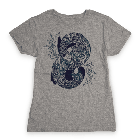 Swirling Wave Otter Womens T-Shirt