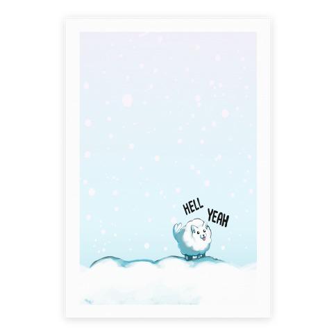 Hell Yeah- Pomeranian Poster