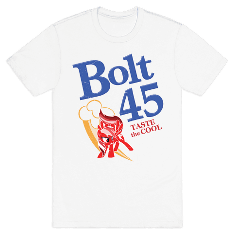 Bolt 45 Parody Beer Mens T-Shirt