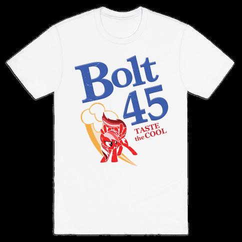 Bolt 45 Parody Beer Mens T-Shirt