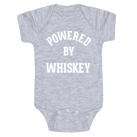 Powered By Whiskey Baby Onesy