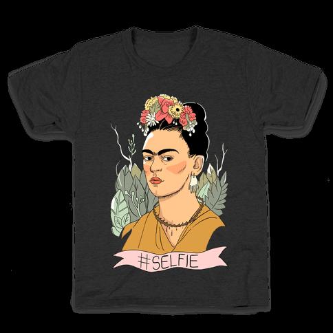 Frida #Selfie Kids T-Shirt