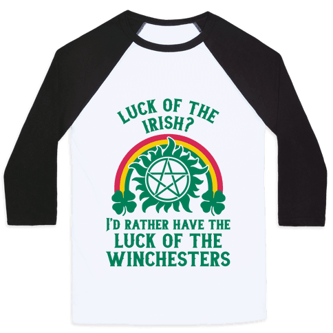 Luck of the Winchesters Baseball Tee