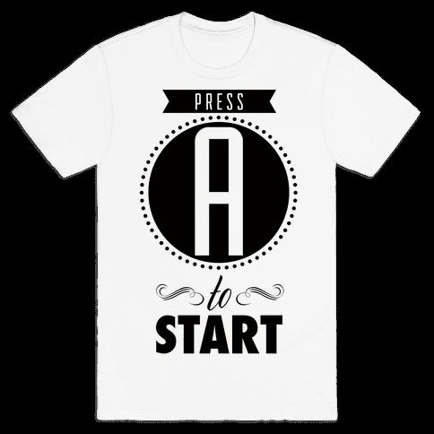 Press A Mens T-Shirt