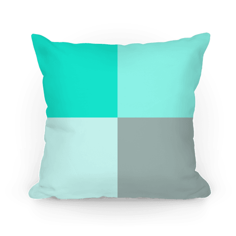 Teal Color Block Pillow