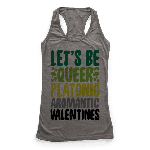 Queerplatonic Aromantic Valentine Racerback Tank Top