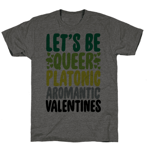 Queerplatonic Aromantic Valentine Mens T-Shirt