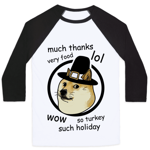 Doge Thanksgiving Baseball Tee