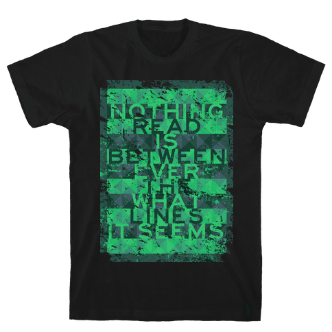 Between the Lines (distressed T) Mens T-Shirt