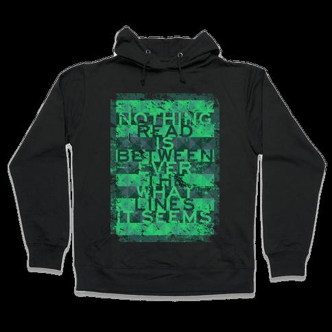 Between the Lines (distressed T) Hooded Sweatshirt