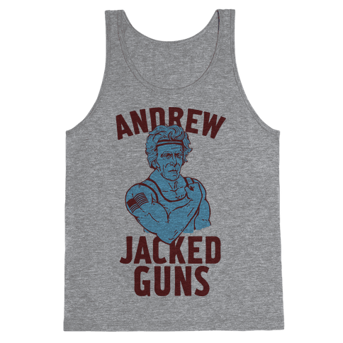 Andrew Jacked-Guns Tank Top