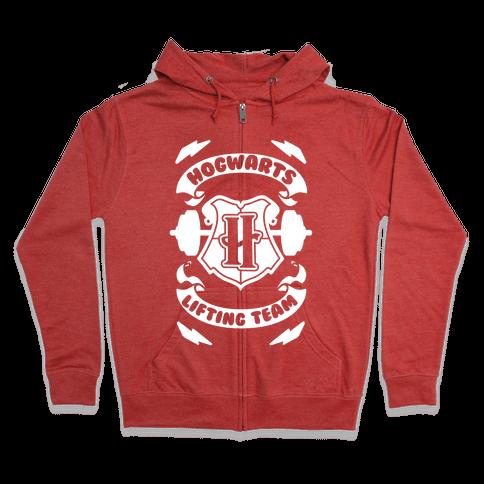 Hogwarts Lifting Team Zip Hoodie