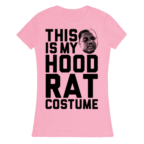 This Is My Hoodrat Costume Womens T-Shirt