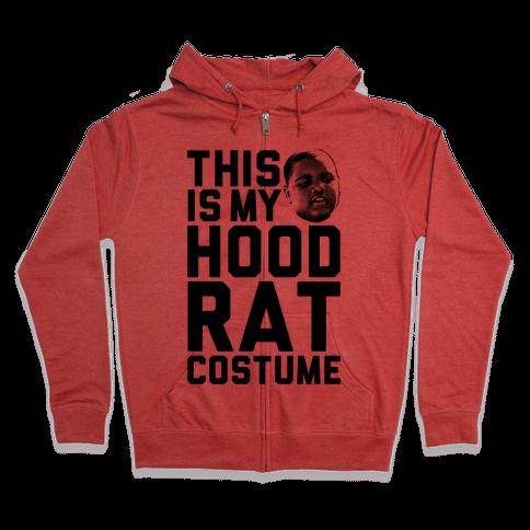 This Is My Hoodrat Costume Zip Hoodie