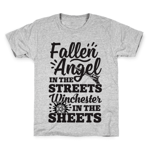 Fallen Angel In The Streets Winchester In The Sheets Kids T-Shirt