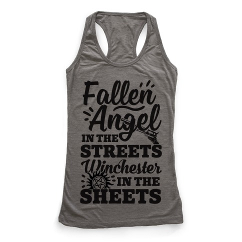Fallen Angel In The Streets Winchester In The Sheets Racerback Tank Top