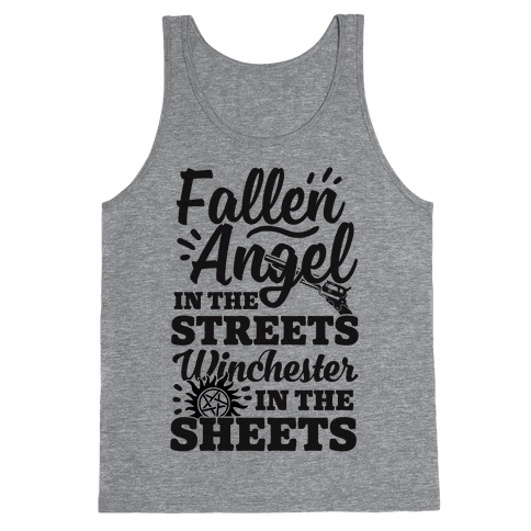 Fallen Angel In The Streets Winchester In The Sheets Tank Top