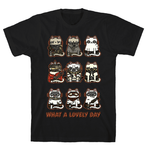 What a Lovely Day Cats Mens T-Shirt
