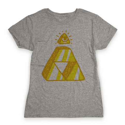 Illuminati Triforce Womens T-Shirt