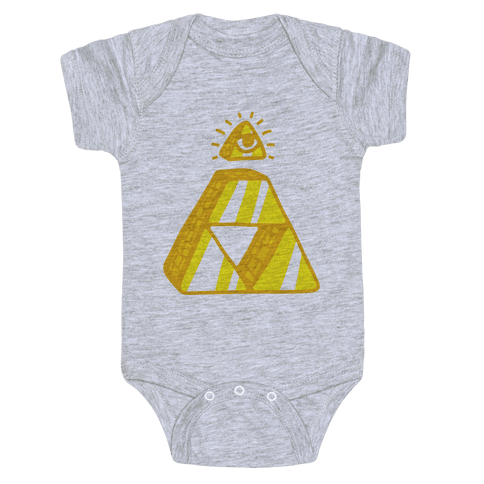 Illuminati Triforce Baby Onesy