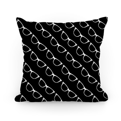 Black Glasses Pattern Pillow