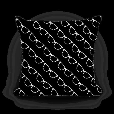 Black Glasses Pattern Pillow