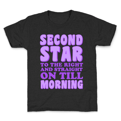 Second Star to the Right Kids T-Shirt