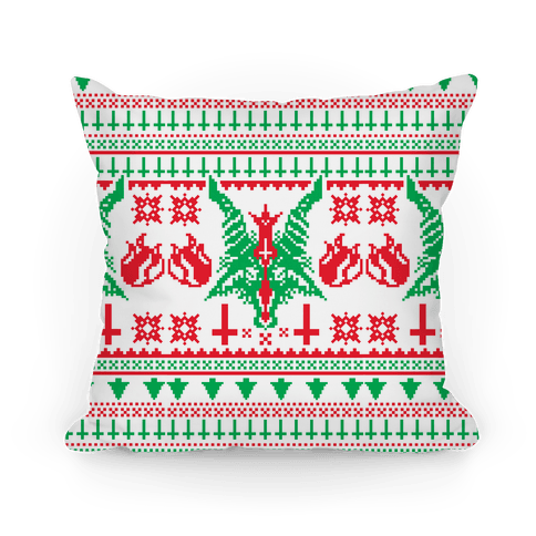 Baphomet Christmas Pattern  Pillow