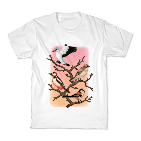 Woodland Birds Kids T-Shirt
