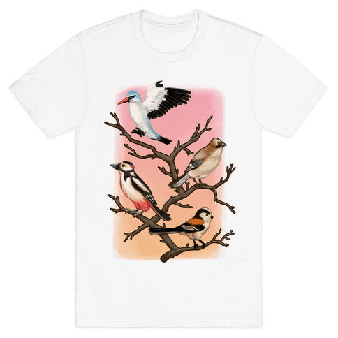 Woodland Birds Mens T-Shirt