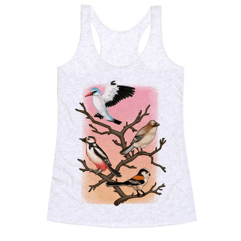 Woodland Birds Racerback Tank Top