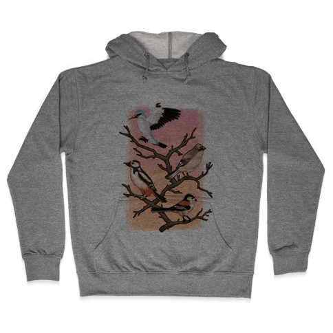 Woodland Birds Hooded Sweatshirt